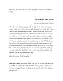 """Nghiên cứu khoa học """" Một số giải pháp kinh tế nhằm phát triển làng nghề xã Chàng Sơn - Thạch Thất Hà Tây """""""