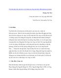 """Nghiên cứu khoa học """" Tìm hiểu đặc tính sinh thái và kỹ thuật gây trồng loài đước (Rhizophora apiculata) """""""
