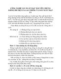 CÔNG NGHỆ SẢN XUẤT HẠT NGUYÊN CHỦNG GIỐNG BỐ MẸ LÚA LAI 3 DÒNG VÀ SẢN XUẤT HẠT F1