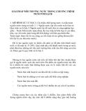 GIẢI PHÁP MÔI TRƯỜNG NƯỚC TRONG CHƯƠNG TRÌNH NUÔI TÔM SẠCH