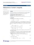 "Báo cáo hóa học: ""   Refinements of Jordan's inequality"""