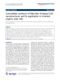 """Báo cáo hóa học: """"  Controllable synthesis of flake-like Al-doped ZnO nanostructures and its application in inverted organic solar cells"""""""