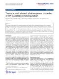 "Báo cáo hóa học: ""   Transport and infrared photoresponse properties of InN nanorods/Si heterojunction"""