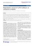 "Báo cáo hóa học: ""  Magnetization reversal of Co/Pd multilayers on nanoporous templates"""