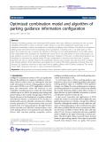 "Báo cáo hóa học: ""   Optimized combination model and algorithm of parking guidance information configuration"""
