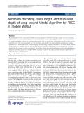 "Báo cáo hóa học: ""   Minimum decoding trellis length and truncation depth of wrap-around Viterbi algorithm for TBCC in mobile WiMAX"""