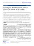 """Báo cáo hóa học: """"  Clustering and OFDMA-based MAC protocol (COMAC) for vehicular ad hoc networks"""""""