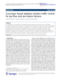 """Báo cáo hóa học: """"   Cross-layer based adaptive wireless traffic control for per-flow and per-station fairness"""""""