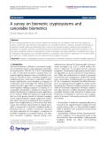 "Báo cáo hóa học: ""   A survey on biometric cryptosystems and cancelable biometrics"""