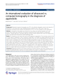 """Báo cáo hóa học: """"  An international evaluation of ultrasound vs. computed tomography in the diagnosis of appendicitis"""""""
