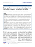 """Báo cáo hóa học: """" Sleep quality in mechanically ventilated patients: comparison between NAVA and PSV modes"""""""