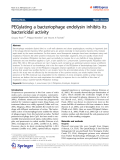"""Báo cáo hóa học: """"  PEGylating a bacteriophage endolysin inhibits its bactericidal activity"""""""