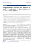 """Báo cáo hóa học: """" Pyrosequencing of 16S rRNA gene amplicons to study the microbiota in the gastrointestinal tract of carp (Cyprinus carpio L.)"""""""