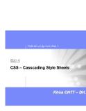 Thiết kế và Lập trình Web 1-Bài 4 CSS – Casscading Style Sheets