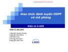 Giao thức định tuyến OSPF và mô phỏng
