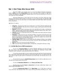Bài 1: Giới thiệu tổng quan về SQL Server 2000