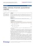 "Báo cáo hóa học: ""Hölder continuity of harmonic quasiconformal mappings"""