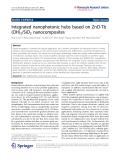 "Báo cáo hóa học: ""  Integrated nanophotonic hubs based on ZnO-Tb (OH)3/SiO2 nanocomposites"""