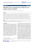 "Báo cáo hóa học: ""BOB-RED queue management for IEEE 802.15.4 wireless sensor networks"""
