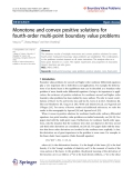 """báo cáo hóa học: """"  Monotone and convex positive solutions for fourth-order multi-point boundary value problems"""""""