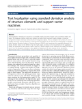 """báo cáo hóa học: """"  Text localization using standard deviation analysis of structure elements and support vector machines"""""""