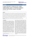 """báo cáo hóa học: """"  A game-theoretic architecture for visible watermarking system of ACOCOA (adaptive content and contrast aware) technique"""""""