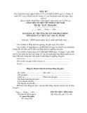 MẪU BẢN ĐĂNG KÝ THUYÊN CHUYỂN NƠI HOẠT ĐỘNG TÔN GIÁO CỦA CHỨC SẮC, NHÀ TU HÀNH
