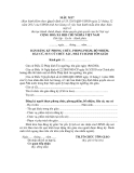 MẪU BẢN ĐĂNG KÝ PHONG CHỨC, PHONG PHẨM, BỔ NHIỆM, BẦU CỬ, SUY CỬ CHỨC SẮC, NHÀ TU HÀNH TÔN GIÁO