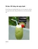 Bí đao: Đồ uống cho ngày lạnh