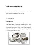 Bí quyết vệ sinh trong bếp