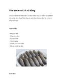 Dẻo thơm xôi cá rô đồng