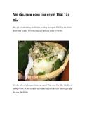 Xôi sắn, món ngon của người Thái Tây Bắc