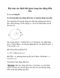 Bài toán xác định thời gian trong dao động điều hòa