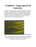 Graphene – mạng nguyên tử hoàn hảo
