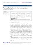 "Báo cáo hóa học: ""  Row stochastic inverse eigenvalue problem"""