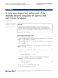 """Báo cáo hóa học: """"  A parameter-dependent refinement of the discrete Jensen's inequality for convex and mid-convex functions"""""""