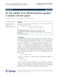 """Báo cáo hóa học: """" On the stability of an AQCQ-functional equation in random normed spaces"""""""