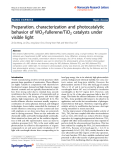 """Báo cáo hóa học: """"  Preparation, characterization and photocatalytic behavior of WO3-fullerene/TiO2 catalysts under visible light"""""""