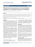 "Báo cáo hóa học: ""  Mechanical characterization of nanoindented graphene via molecular dynamics simulations"""