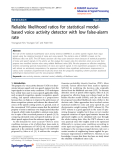 """Báo cáo hóa học: """" Reliable likelihood ratios for statistical modelbased voice activity detector with low false-alarm rate"""""""
