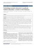 """Báo cáo hóa học: """" Technology-assisted education in graduate medical education: a review of the literature"""""""