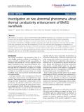 "báo cáo hóa học: "" Investigation on two abnormal phenomena about thermal conductivity enhancement of BN/EG nanofluids"""