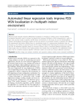 """báo cáo hóa học: """" Automated linear regression tools improve RSSI WSN localization in multipath indoor environment"""""""