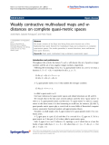 """báo cáo hóa học: """" Weakly contractive multivalued maps and wdistances on complete quasi-metric spaces"""""""