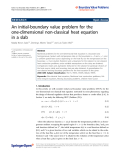 "báo cáo hóa học: "" An initial-boundary value problem for the one-dimensional non-classical heat equation in a slab"""