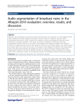 """báo cáo hóa học: """"  Audio segmentation of broadcast news in the Albayzin-2010 evaluation: overview, results, and discussion"""""""