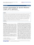 """báo cáo hóa học: """"  Invariant representation for spectral reflectance images and its application"""""""