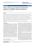 """báo cáo hóa học: """" Video coding using arbitrarily shaped block partitions in globally optimal perspective"""""""