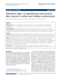 """báo cáo hóa học: """" Admission hypo- or hyperthermia and survival after trauma in civilian and military environments"""""""
