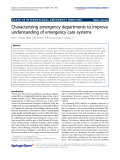 "báo cáo hóa học: "" Characterizing emergency departments to improve understanding of emergency care systems"""